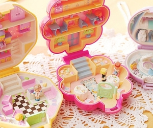 polly pocket, toys, and pink image