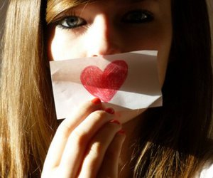 girl, heart, and eyes image