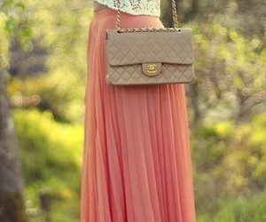 chanel, outfit, and skirt image