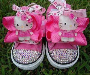 hello kitty, pink, and baby image