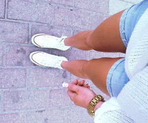 summer, legs, and outfit image