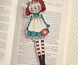 book, girl, and lollipop image