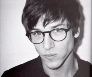 gaspard ulliel, glasses, and black and white image