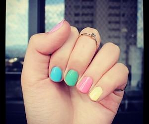colors, nails, and girl image