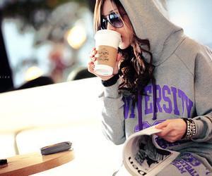 university, coffee, and girl image