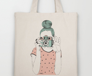 bag, camera, and illustration image