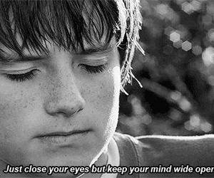 josh hutcherson, quotes, and eyes image