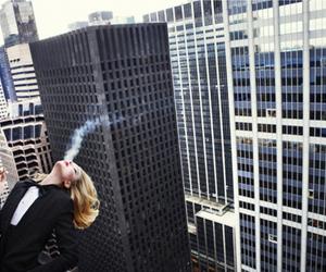 city, smoke, and smoking image