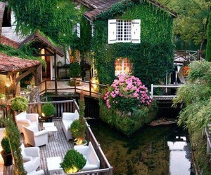 house, green, and france image