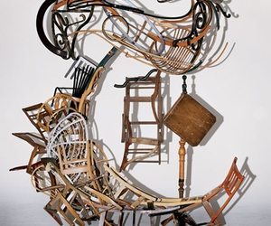 art, chair, and constructed image