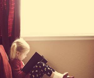 book, read, and baby image