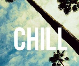 chill, quote, and palms image