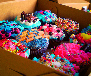 cake, cupcakes, and colours image