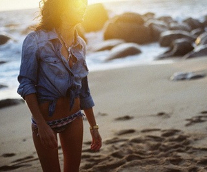 beach, heart, and outfit image