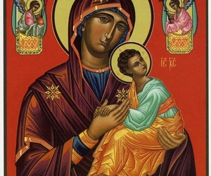 icon, jesus, and mother of god image