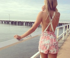 beach, blonde, and photography image