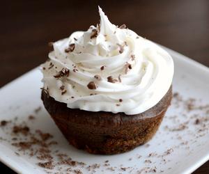 food, cupcake, and chocolate image