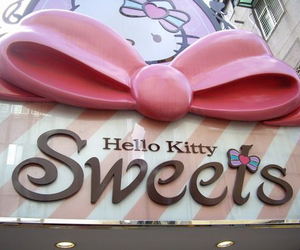 hello kitty, sweets, and pink image