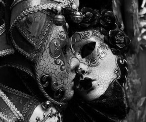 mask, venice, and kiss image