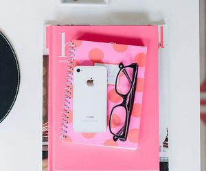 pink, glasses, and iphone image