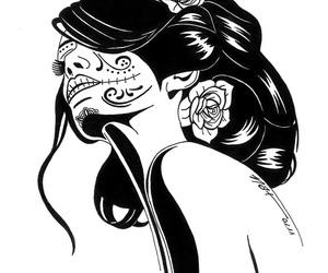 art, hair, and muertos image