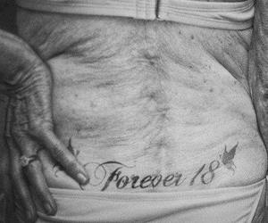 18, tatto, and balck and white image