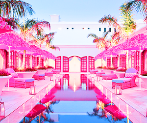 pink, barbie, and pool image