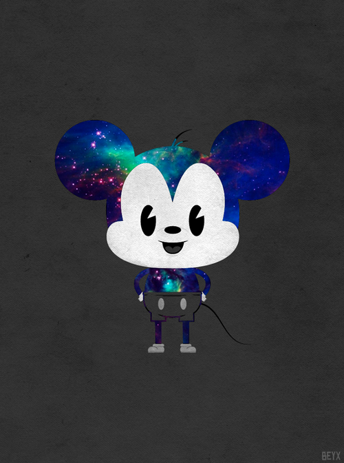 Free Mickey Mouse Middle Finger Galaxy