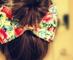 fashion, hair, and bow hair tie image