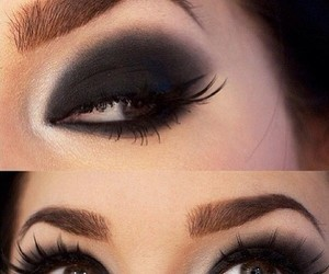 black, elegant, and makeup image