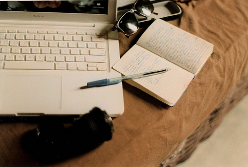 book, laptop, and tumblr image