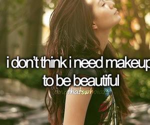 beautiful, makeup, and quotes image