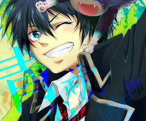 anime, ao no exorcist, and rin okumura image