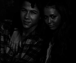 black and white, couple, and nick jonas image