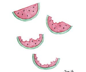 draw, fruit, and illustration image