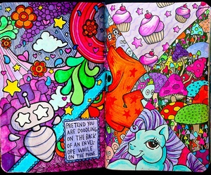 wreck this journal and colorful image