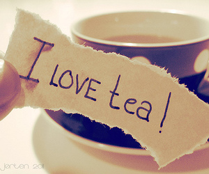 cup, love, and tea image