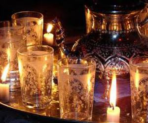 moroccan tea and cup image