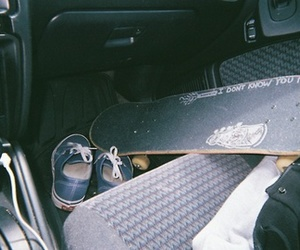 car, skate, and vans image