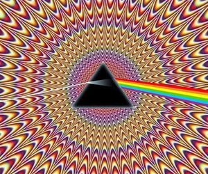 Pink Floyd, rainbow, and colors image