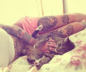 tattoo, cat, and sweet image