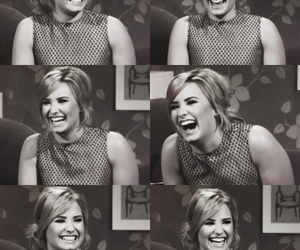 demi lovato, laugh, and smile image
