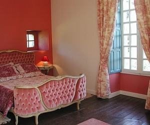 bedroom, pink bed, and pink room image