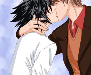 death note, kiss, and raito image