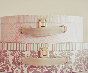 pink, vintage, and box image