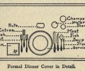 dinner, illustration, and vintage image