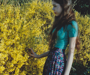 flowers, girl, and skinny image