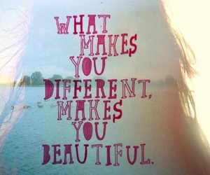 beautiful, different, and quote image