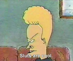 slut, beavis and butthead, and cool image