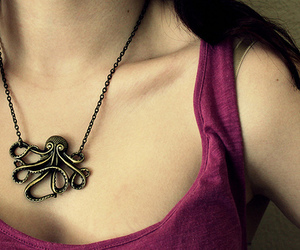 necklace, octopus, and purple image